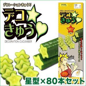 デコきゅう(家庭菜園用キュウリの型)星型×80本セット ガーデニング・雑貨|vg-harada