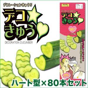 デコきゅう(家庭菜園用キュウリの型)ハート型×80本セット ガーデニング・雑貨|vg-harada