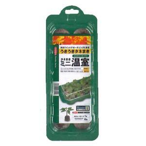 タネまき ミニ温室 ジフィー・ジフィーセブン42mm 10個入(29.5cm×11.5cm×4cm) 栽培トレー&ドーム1組 園芸用品|vg-harada