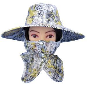UVカット機能付きハット・農園帽子(花柄ストライプ) ガーデニング・帽子|vg-harada