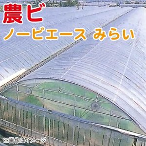 農ビ ノービエース みらい 透明 厚さ0.075mm×幅200cm×長さ100m 農業資材|vg-harada