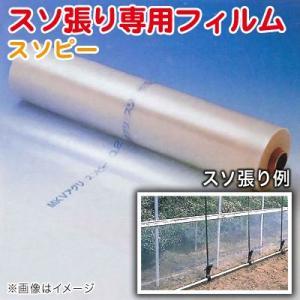 ハウス スソ張り専用フィルム スソピー 厚さ0.2mm×幅75cm×長さ100m 農業資材|vg-harada