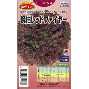 野菜の種/種子 晩抽レッドファイヤー リーフレタス 150粒(メール便発送)タキイ種苗|vg-harada