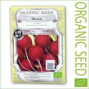 有機種子/野菜の種 ラディッシュ/二十日大根(深紅ラウンドタイプ) 1.5g(メール便可能)|vg-harada