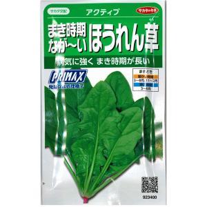 野菜の種/種子 アクティブ まき時期なが〜いほうれん草・ほうれんそう 30ml (メール便可能)サカタのタネ|vg-harada