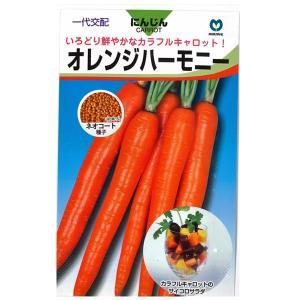 野菜の種/種子 オレンジハーモニー ニンジン  にんじん キャロット ネオコート種子 人参  400粒 (メール便可能)|vg-harada