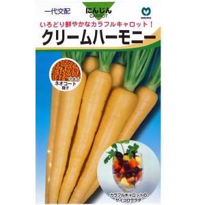 野菜の種/種子 クリームハーモニー ニンジン  にんじん キャロット 人参 ネオコート種子  320粒 (メール便可能)|vg-harada