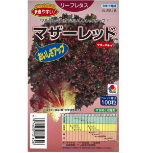 野菜の種/種子 マザーレッド・リーフレタス 100粒 (メール便可能)タキイ種苗|vg-harada