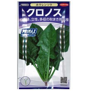 野菜の種/種子 クロノス・ほうれんそう ホウレンソウ 法蓮草 30ml(メール便可能)サカタのタネ|vg-harada