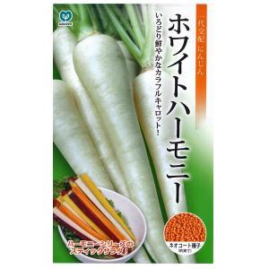野菜の種/種子 ホワイトハーモニー ニンジン  にんじん キャロット ネオコート種子 人参  320粒 (メール便可能)|vg-harada