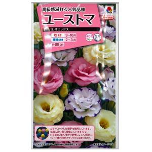 花の種 ユーストマ[F1 パレオ ミックス] 15粒 (メール便可能)|vg-harada