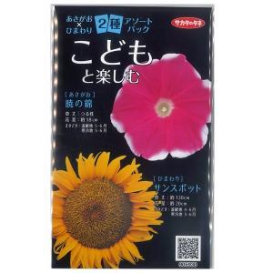 花の種 あさがお×ひまわり 朝顔 向日葵 ヒマワリ 2種アソートパック (メール便可能) サカタのタネ|vg-harada