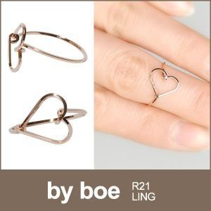 BY BOE ミディリング ファランジリング 指輪 バイボー R21 リング 14K ローズゴールド