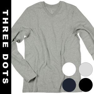 THREE DOTS スリードッツ Tシャツ メンズ ネイビー  ご紹介するのは スリードッツ 半袖...