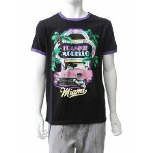フランキーモレロ frankie morello Tシャツ 半袖 メンズ FN04 6324 ブラック G-SALE|viaspiga
