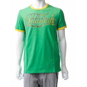 フランキーモレロ frankie morello Tシャツ 半袖 丸首 メンズ FS03 6324 グリーン 目玉商品 G-SALE|viaspiga