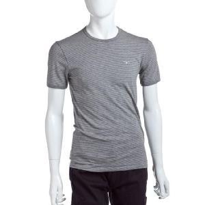 ディオールオム DIOR HOMME Tシャツアンダーウェア 半袖 メンズ IDM200850 グレー×ホワイト G-SALE viaspiga