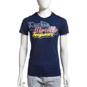 フランキーモレロ frankie morello Tシャツ 半袖 メンズ T32 MJ22 ネイビー G-SALE|viaspiga