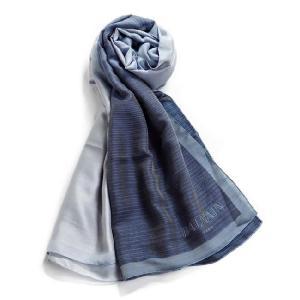 バルマン BALMAIN スカーフ T07 JU28 ネイビー 目玉商品17AW|viaspiga