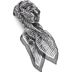 アレキサンダーマックイーン AlexanderMcQueen スカーフ 345295 3010Q ブラック 目玉商品17AW|viaspiga