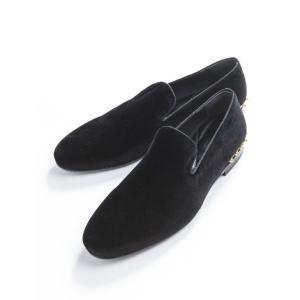 アレキサンダーマックイーン AlexanderMcQueen シューズ スリッポン 靴 メンズ 356764 W4AZ3 ブラック 目玉商品17AW|viaspiga