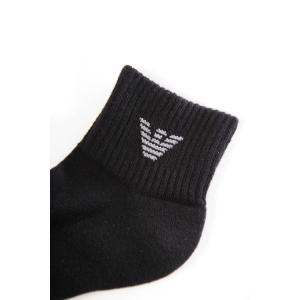 アルマーニ エンポリオアルマーニ Emporio Armani ソックス 靴下 ローカット くるぶしソックス メンズ 302202 CC195 ブラック|viaspiga|02