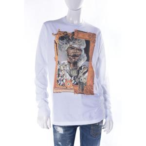 ディースクエアード DSQUARED2 ロングTシャツ ロンT 長袖 丸首 レディース S73GC0155S22427 ホワイト viaspiga
