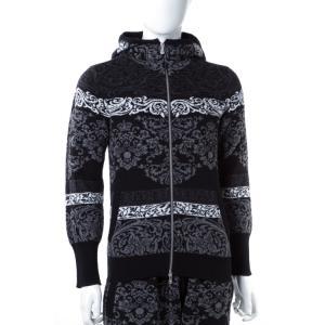 2016年秋冬新作 ジェンマアッカウォモ GEMMA H セーター 長袖 ジップアップパーカー ニット メンズ UC JQ14 104P ブラック 上下別売 SALE16AW2|viaspiga