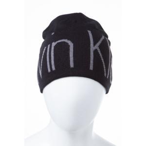 2016年秋冬新作 カルバンクライン CALVIN KLEIN ニットキャップ ニット帽 帽子 HKH63608 ブラック viaspiga