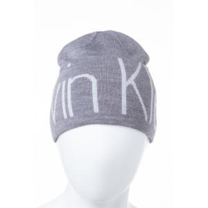 2016年秋冬新作 カルバンクライン CALVIN KLEIN ニットキャップ ニット帽 帽子 HKH63608 グレー viaspiga
