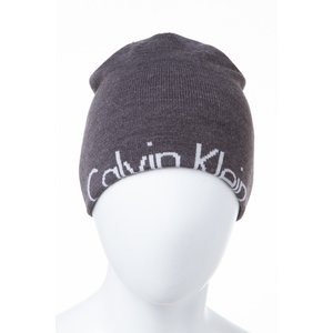 2016年秋冬新作 カルバンクライン CALVIN KLEIN ニットキャップ ニット帽 帽子 HKH63613 チャコールグレー viaspiga