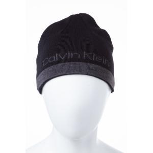 2016年秋冬新作 カルバンクライン CALVIN KLEIN ニットキャップ ニット帽 帽子 HKCH3600 SCP ブラック viaspiga