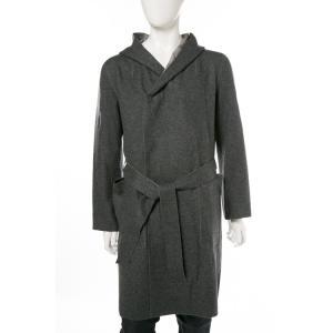 2017年秋冬新作 ルシアンペラフィネ lucien pellat-finet コート ガウン リバーシブル メンズ BUR04H グレー|viaspiga