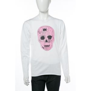 2017年秋冬新作 ルシアンペラフィネ lucien pellat-finet ロングTシャツ ロンT 長袖 丸首 メンズ EVH1956 ホワイト|viaspiga