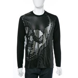 2017年秋冬新作 ルシアンペラフィネ lucien pellat-finet ロングTシャツ ロンT 長袖 丸首 メンズ EVH1976 ブラック|viaspiga
