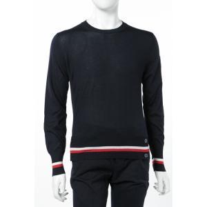 モンクレールガムブルー MONCLER GAMME BLEU セーター ニット 長袖 丸首 メンズ 9005100 999BE ネイビー|viaspiga