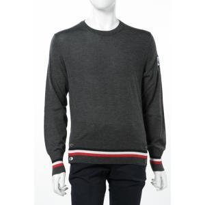 モンクレールガムブルー MONCLER GAMME BLEU セーター ニット 長袖 丸首 メンズ 9005100 999BE ダークグレイ|viaspiga