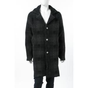 ジェンマアッカウォモ GEMMA H コート ニットコート メンズ UC TARTAN 408 ブラック 2017年秋冬新作 2017AW_SALE|viaspiga