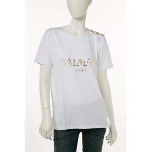 バルマン BALMAIN Tシャツ 半袖 丸首 レディース 108564 326I ホワイト 2017年秋冬新作|viaspiga