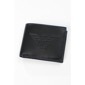 0b10fc23ef9e アルマーニ エンポリオアルマーニ Emporio Armani 財布 2つ折り財布 Y4R165 YG90J ブラック