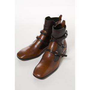 プラダ Prada ブーツ レザーブーツ メンズ 2TG069 3F9D ブラウン
