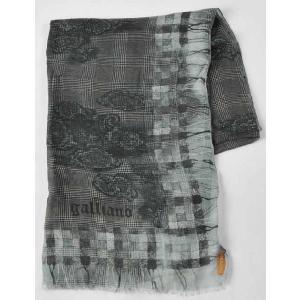 ガリアーノ Galliano スカーフ WR0H05 80806 ブラック 目玉商品17AW|viaspiga