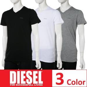 ディーゼル DIESEL Tシャツ アンダーウェア 半袖 Vネック メンズ 00SPDM 0AALW