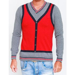 フランキーモレロ frankie morello セーター A019 7060 レッド 目玉商品17AW|viaspiga