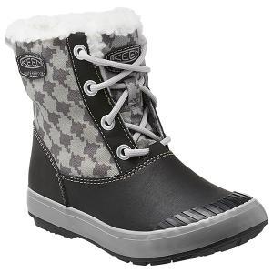 30%OFF vic2セール キーン KEEN Youth Elsa L Boot WP Black/Houndstooth エルサエルブーツ 防水 スノーブーツ キッズ 子供用|vic2