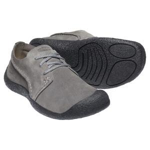 キーン KEEN Mens Howser Suede Oxford Steel Grey/Black|vic2