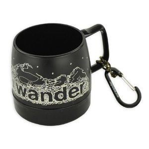 アンドワンダー and wander DINEX printed mug black ダイネックスプリンテッドマグ and wander別注 マグカップ 2017FW|vic2