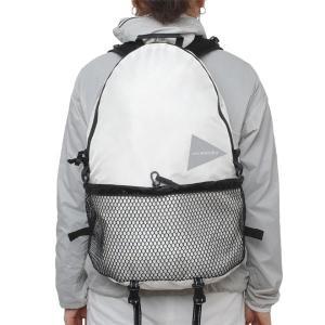 アンドワンダー and wander バックパック 20L daypack white リュック ザック デイパック サブバッグ 2017FW|vic2