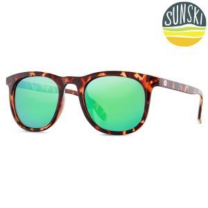 サンスキー SUNSKI Seacliffs Tortoise/Emerald シークリフ サングラス アイウェア 偏光|vic2