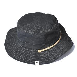 アンドワンダー and wander reflect printed hat black リフレクト プリンテッド ハット 帽子 リバーシブル|vic2